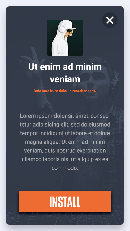 interstitial ad format
