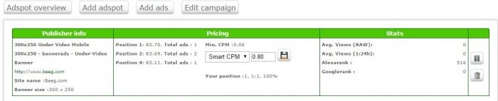 ero ads pricing menu