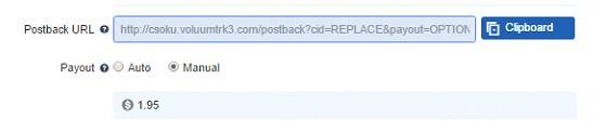 postback URL on voluum