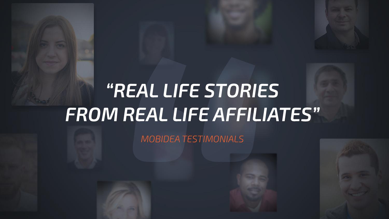 mobidea testimonials From real Life Affiliates