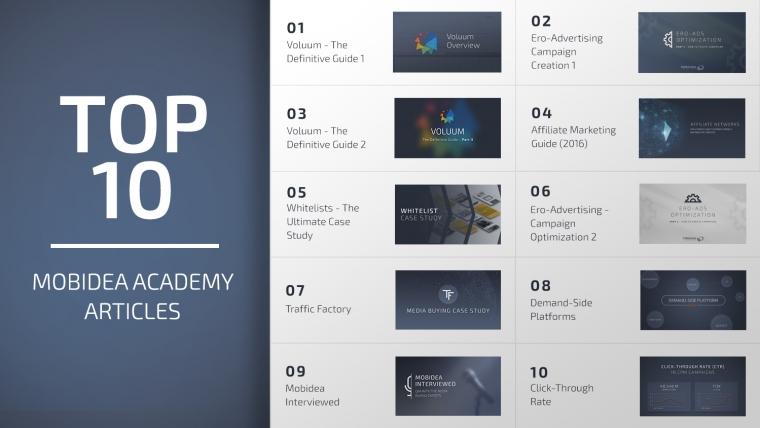mobidea academy top 10 of 2016