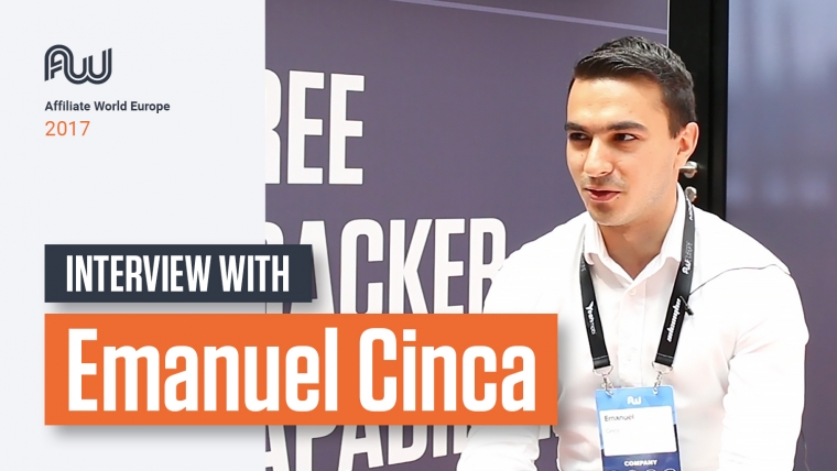 Emanuel Cinca Interview at Affiliate World Europe 2017