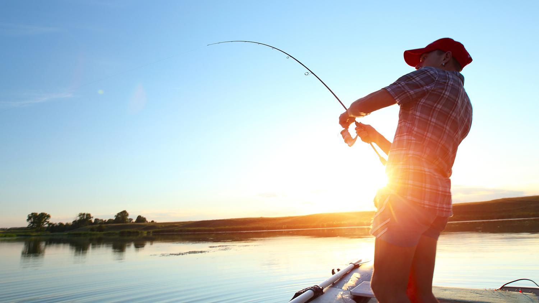 Фото с удочкой на рыбалке