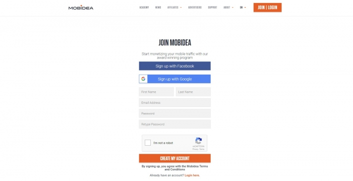 form submission mobidea