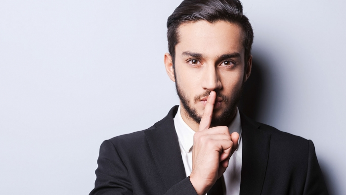 man asking to keep a secret