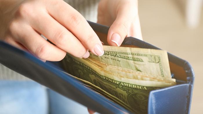 wallet with bills