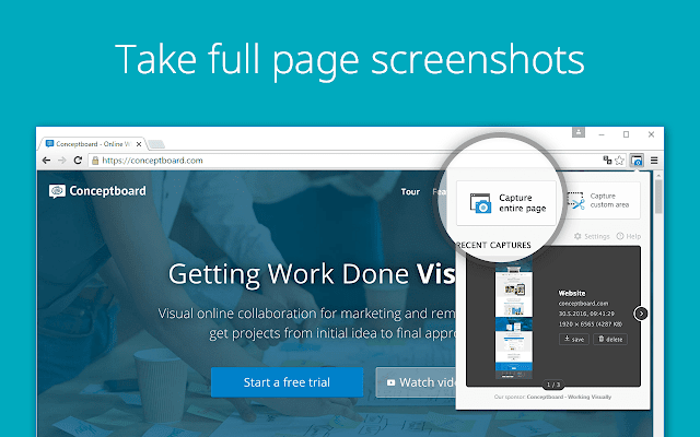 Full Page Screenshot chrome extension
