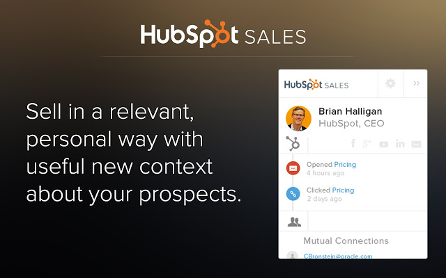 hubspot sales extension