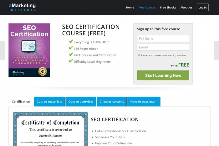 emarketing seo course