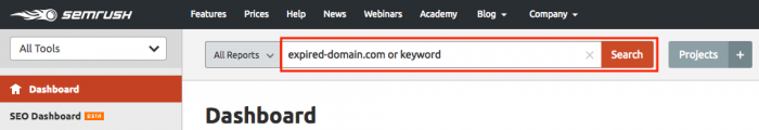 expired domain keywords