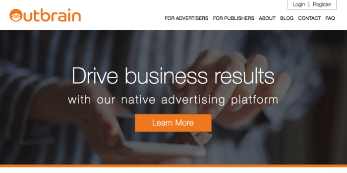 outbrain native ad network
