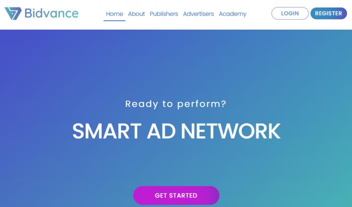 bidvance homepage