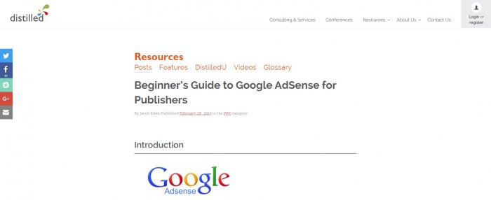 distilled google adsense