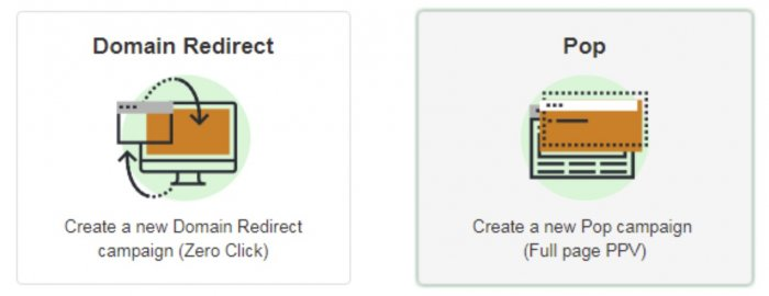 domain and pop redirect