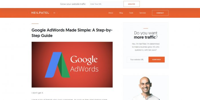 neil patel google adwords