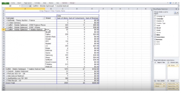 pivot table 4