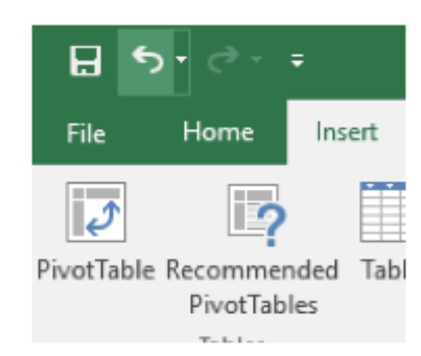 pivot tables insert