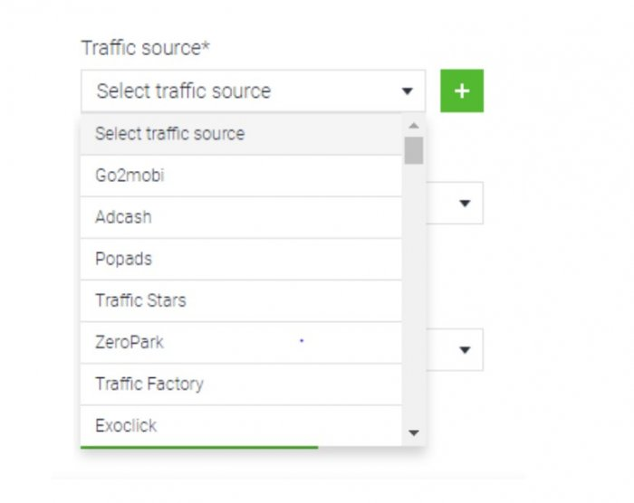 select traffic source