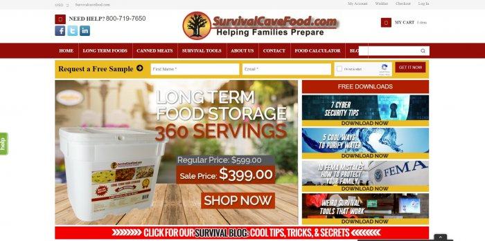 survivalcavefood website