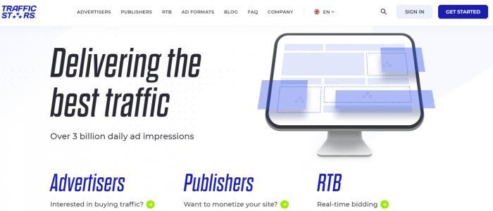 Native ad network TrafficStars