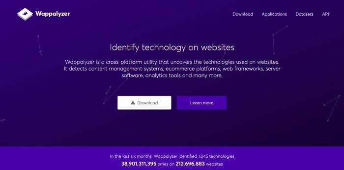 wappalyzer homepage