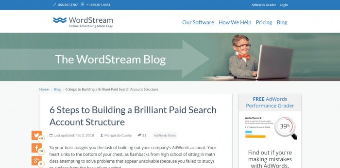 word stream google adwords