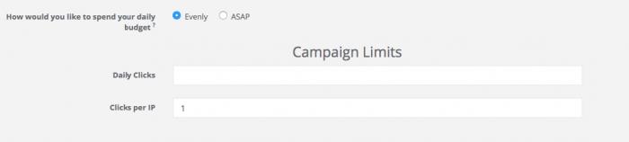 ad maven campaign budget limits