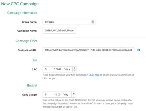 selfadvertiser campaign information