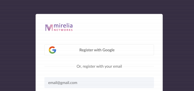 signup on mirelia networks